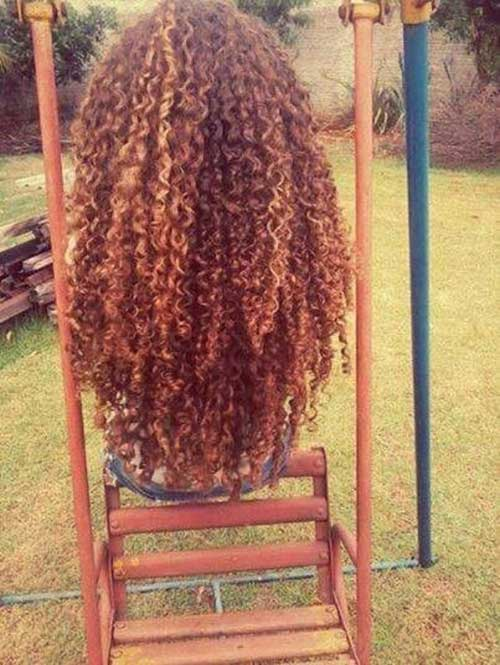 Natural Curly Long Hair
