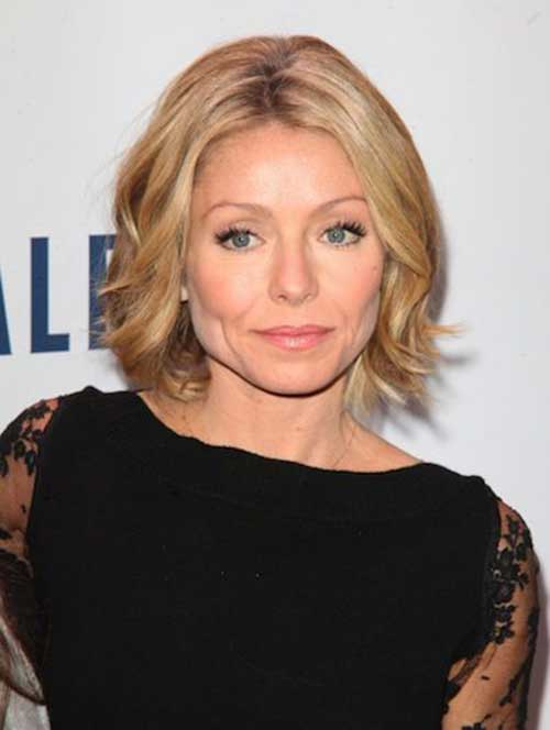 Kelly Ripa Bob Haircut Hair for Women Over 40
