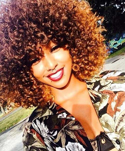 Curly Hairstyle Afro