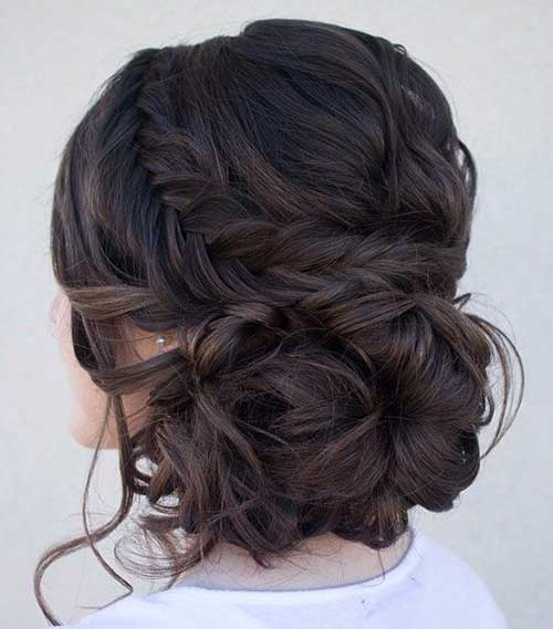 Side Updos with Braids