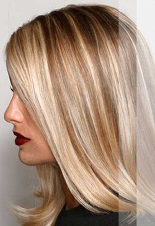 Brown Blonde Highlights and Lowlights