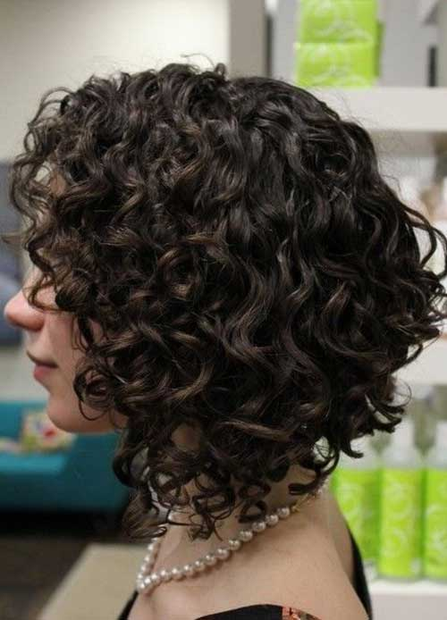 Inverted Bob Curly Hairstyles