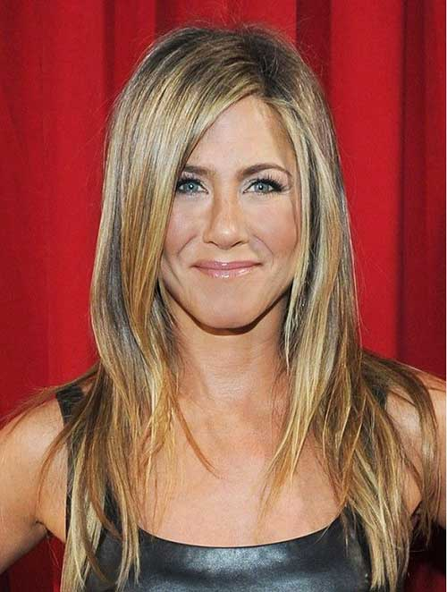 Jennifer Aniston Layered Long Straight Hairstyles