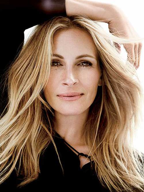 Julia Roberts Hairstyles for Long Straight Hair