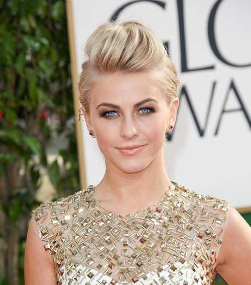 Julianne Hough Short Hair Updo for Party