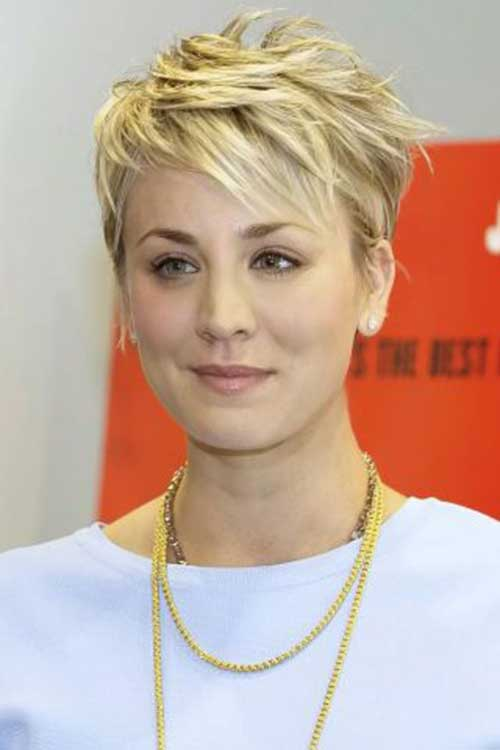 Kaley Cuoco Short Hair 2015