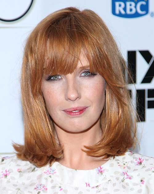 Kelly Reilly Hairstyles for Long Faces