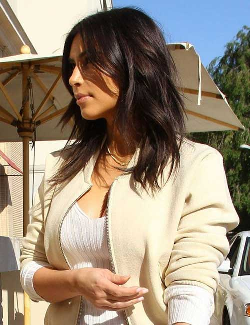 Kim Kardashian Brunettes Haircut 2015