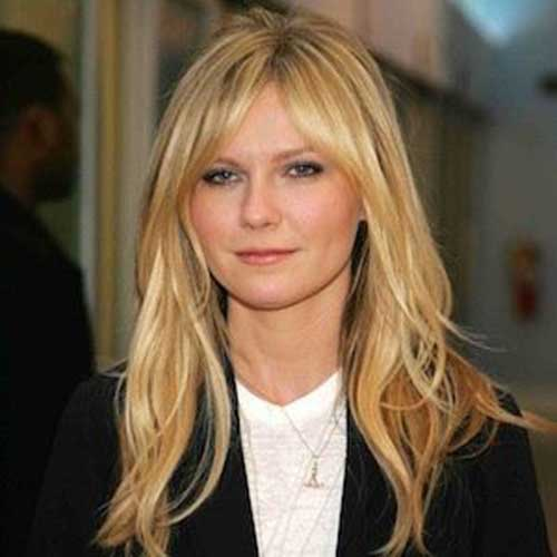 Best Kirsten Dunst Long Bangs
