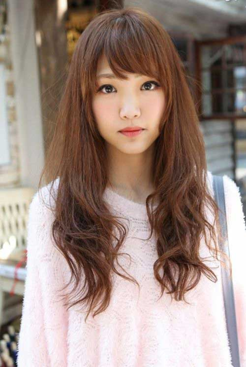 Asian Straight Layered Hair With Side Bangs 15+ Latest Kore...
