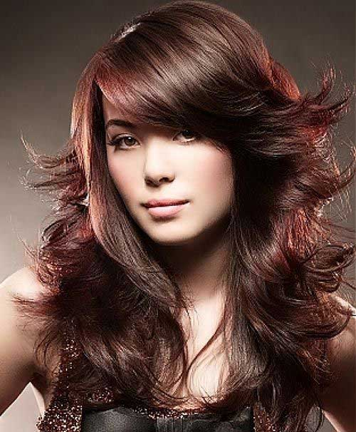 Layered Funky for Long Brown Hairstyles