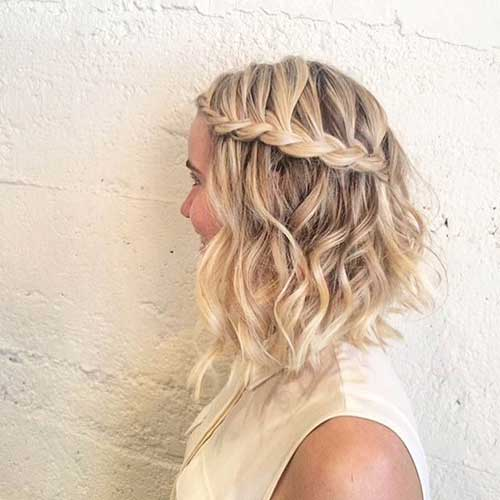 Long Curly A Line Layered Bob