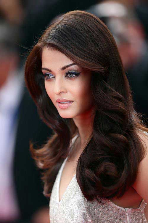 Long Dark Brown Hairstyles for Round Faces