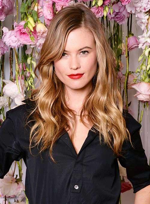 Best Long Side Bangs Wavy Hair