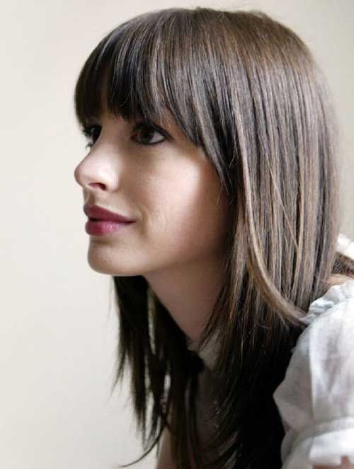 Long Layered Straight Hair with Bangs