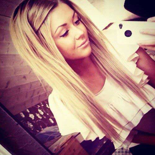 Long Straight Simple Hairstyles 2015