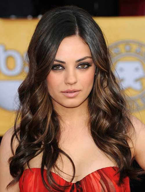 Long Trendy Hairstyles for Round Faces