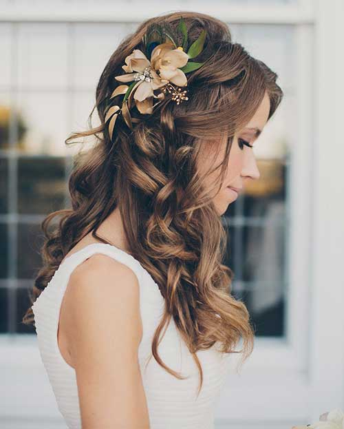 Loose Curly Wedding Hairstyles