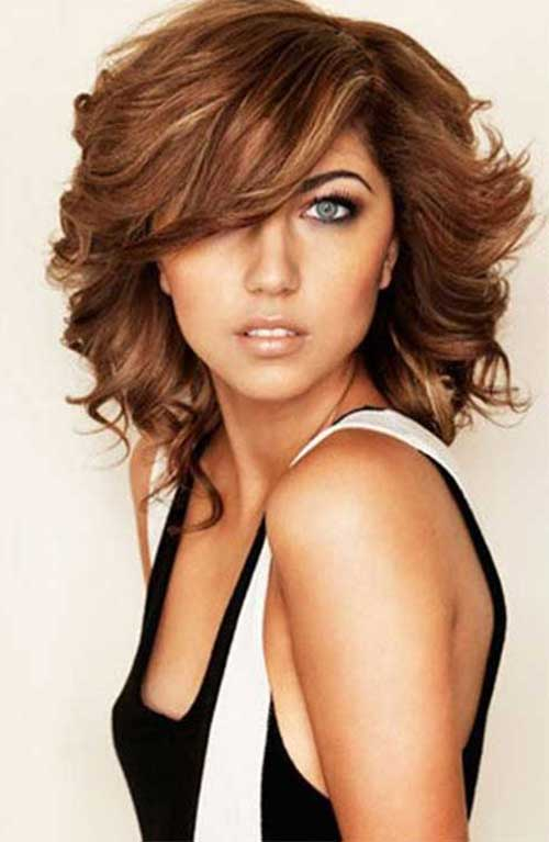 20 Haircuts With Bangs For Round Faces Hairstyles And