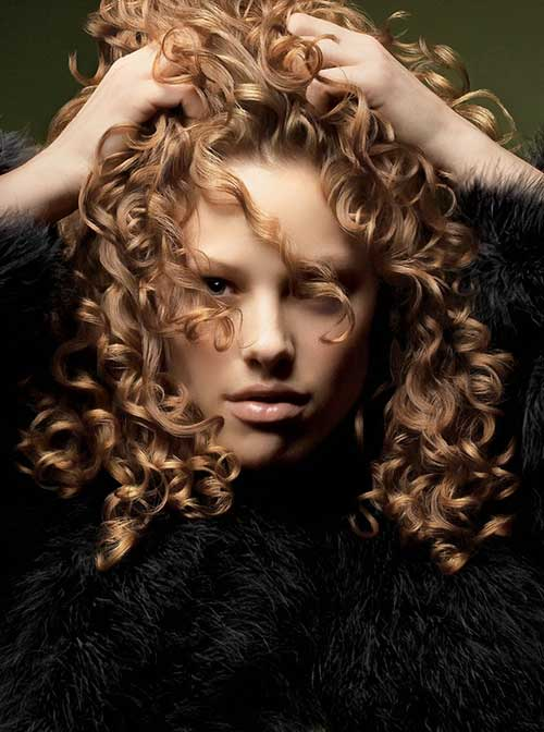 Messy Curly Hairstyles