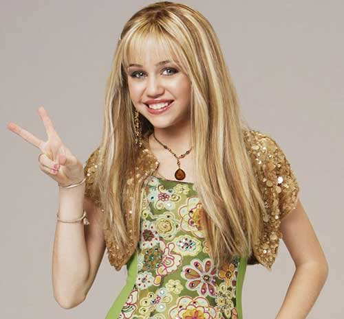 Miley Cyrus Blonde Cute Straight Hair Styles