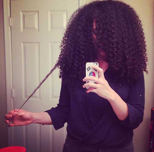 Naturally Curly Long Hair Black Girls Styles