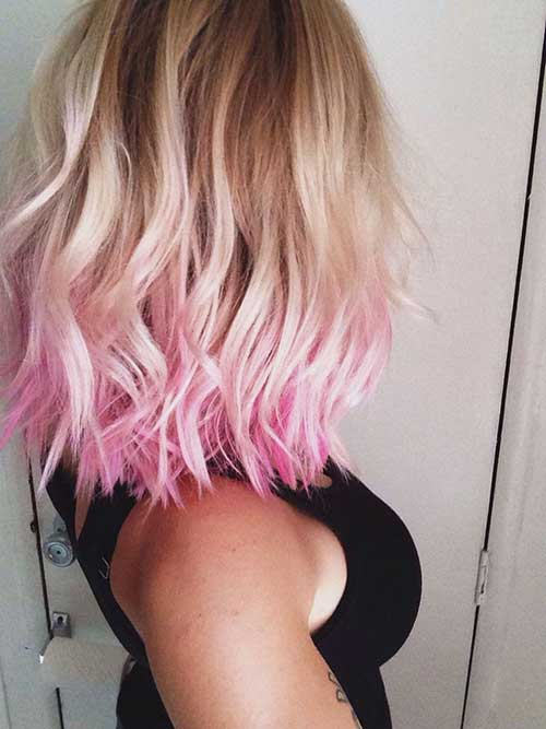 Pink Ombre Hair Blonde Styles