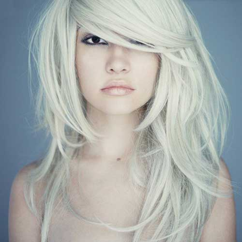 Platinum Blonde Long Haircuts