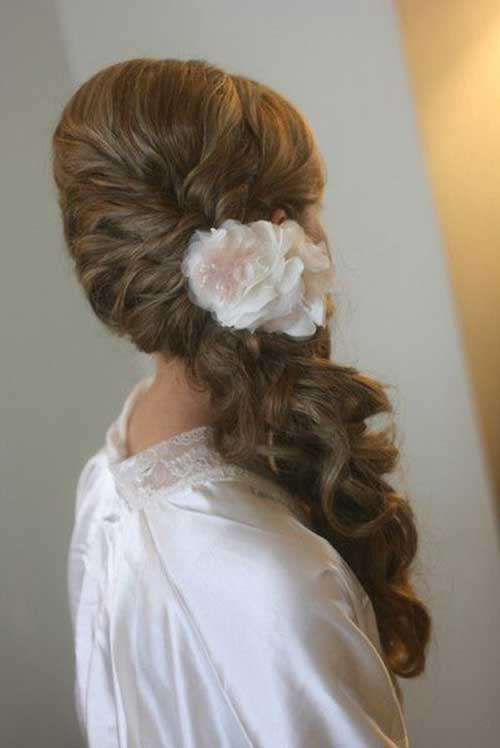 Best Pretty Side Ponytails for Wedding