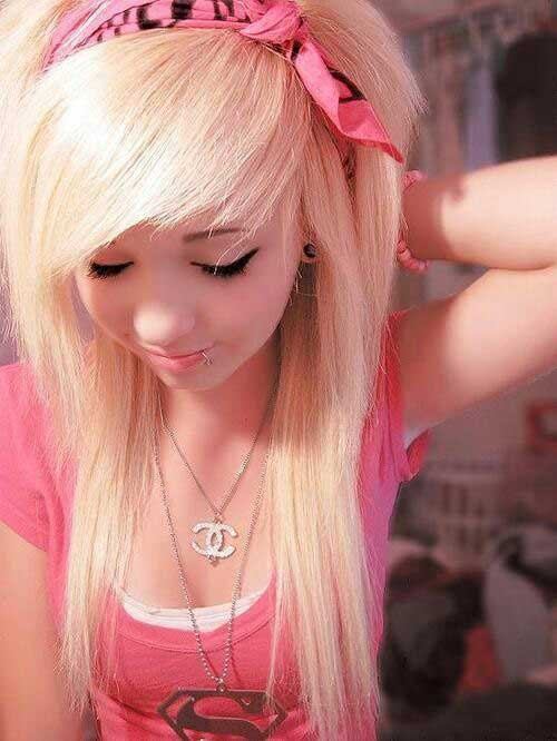 Blonde Scene Punk Hairstyles for Girls