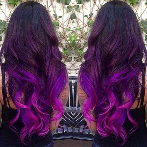 Purple Ombre Hair Trend