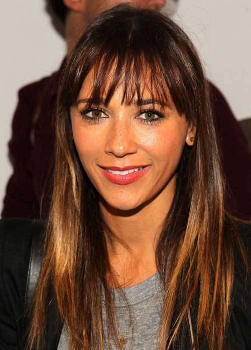 Rashida Jones Bangs 2015