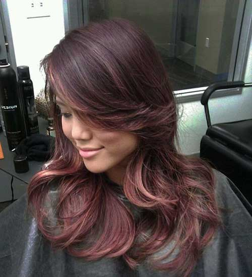 Best Rose Gold Highlights on Brunette Hair 2016
