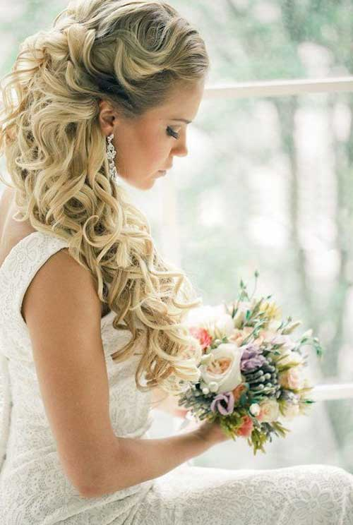 15 Half Up Half Down Bridal Hair Hairstyles And