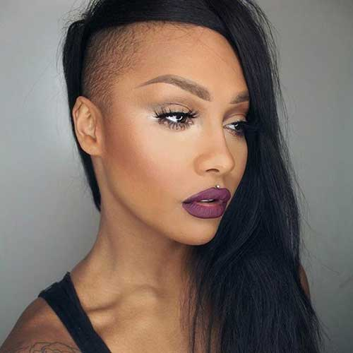 Shaved Punk Hairstyles for Women