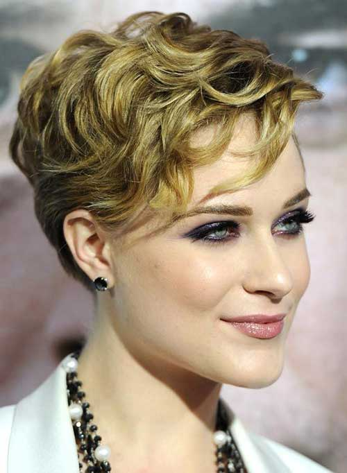 Short Curly Hair Layered Pixie