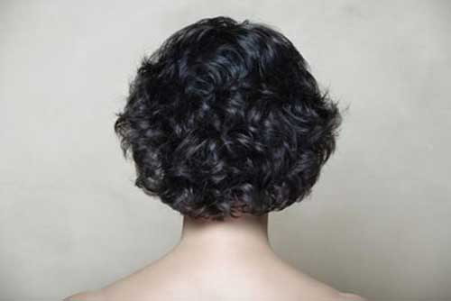 Thick Short Curly Hairstyles Back View