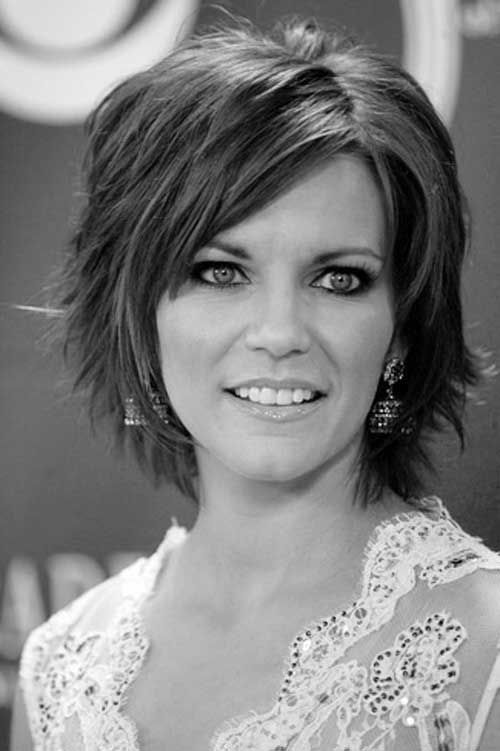 Short Layered Haircuts with Bangs Over 40