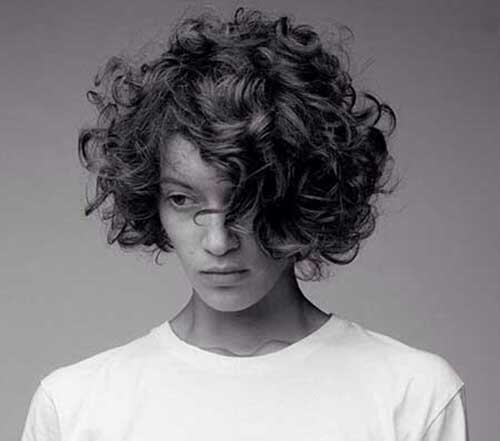 Short Messy Curly Thick Hair