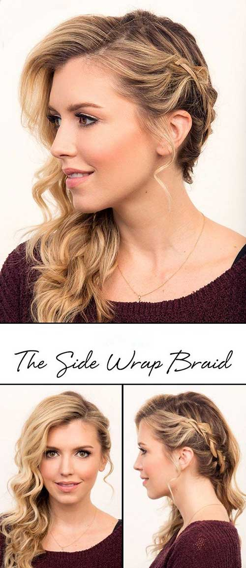 Side Swept Braided Hairstyles