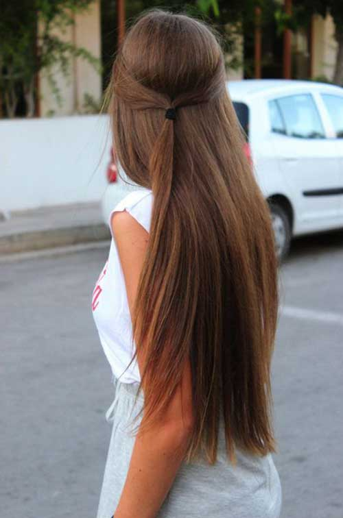 Simple Straight Light Brown Hairstyle