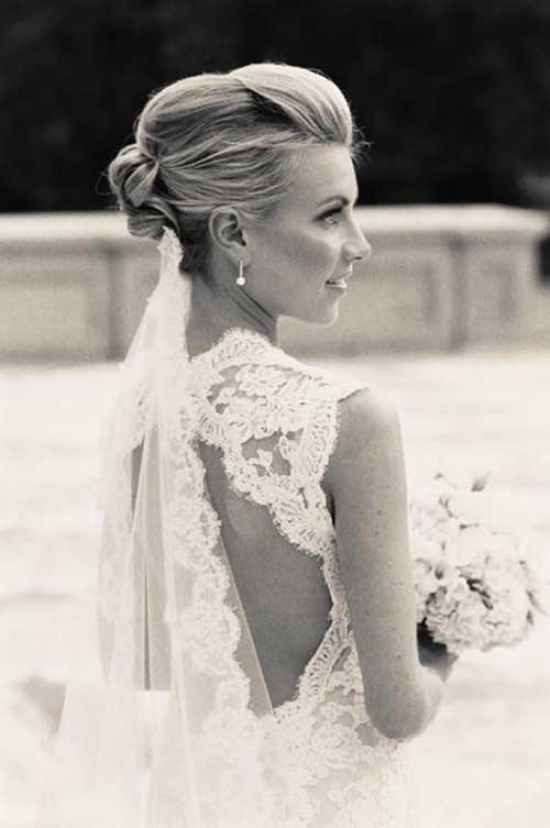 Simple Updo Wedding Hair