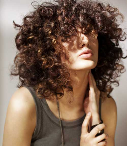 Thick Layered Curly Hair