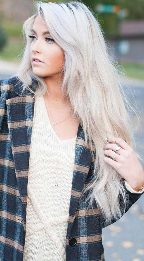 White Blonde Hair Styles