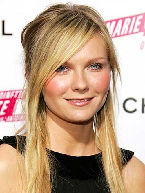 Hairstyles for Round Faces Long Hair-12