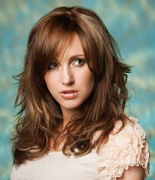 Hairstyles with Long Bangs-12