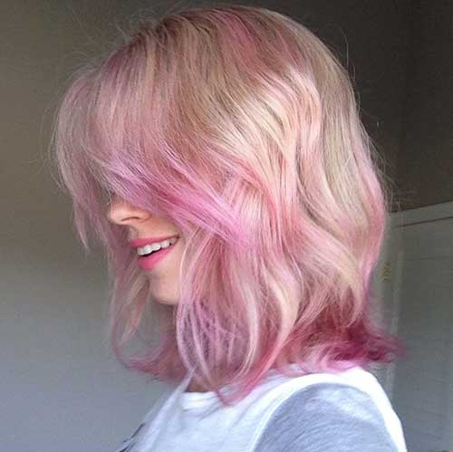 Pink Blonde Hair Color-13