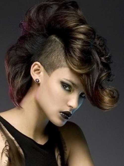 Punk Hairstyles for Curly Hair-13