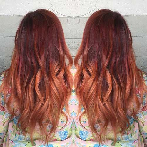 Hair Red Color-15