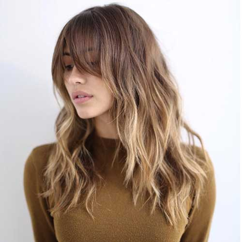 Hairstyles with Long Bangs-15